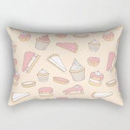 Pink Pastry Pattern Rectangular Pillow