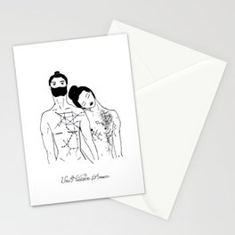 They met following two different kind of maps Stationery Cards
