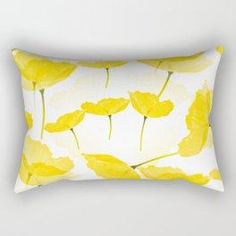 Light Yellow Poppies Spring Summer Mood #decor #society6 #buyart Rectangular Pillow