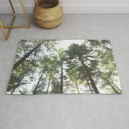 Looking up at the Pine Trees Rug