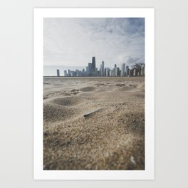 Chicago Beach Days Art Print