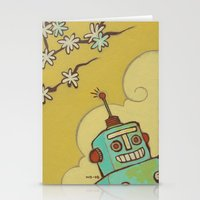 robot Stationery Cards featuring Robot by Willow Dawson
