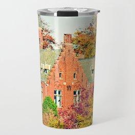 Minnewater lake of love in Bruges, Belgium Travel Mug