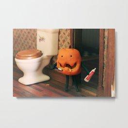 Pumpkin Hygiene Metal Print