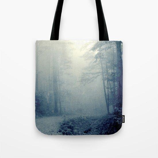 Wander in a Woodland Fog Tote Bag