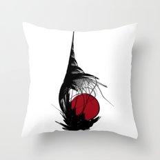 Asian Sun Throw Pillow