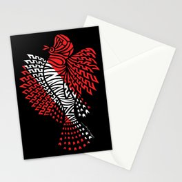 Tribal Scuba Flag Lionfish Stationery Cards