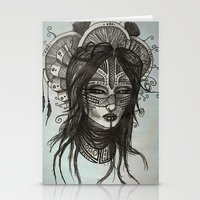 witch Stationery Cards featuring witch by ASTRA ZERO