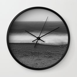Ocean - 10 Black and White Wall Clock