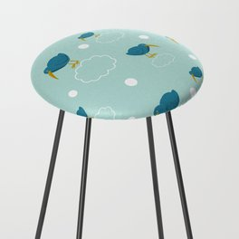 Kiwi birds on the clouds Counter Stool