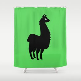 Angry Animals: llama Shower Curtain