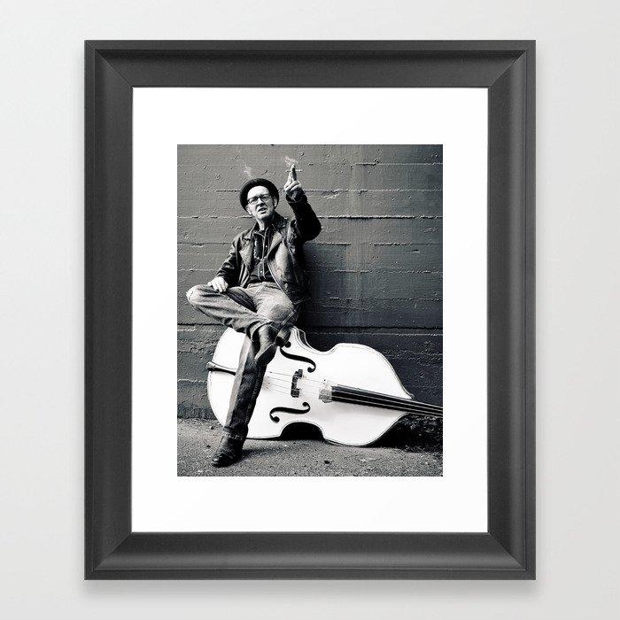 Rebel on  bass Framed Art Print