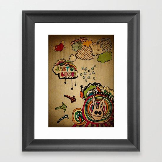 Just Love! Framed Art Print