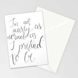 Not Nearly Normal Stationery Cards