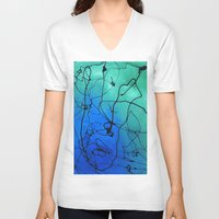 abyss V-neck T-shirts featuring The Abyss by Andrea Gingerich
