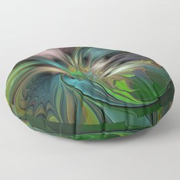 Colorful Abstract Fractal Art Floor Pillow