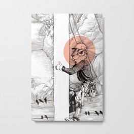 Utility Pole Squirrel Metal Print