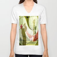 golf V-neck T-shirts featuring Golf by Robin Curtiss