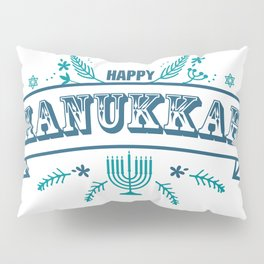 The first day of Hanukkah Pillow Sham