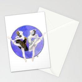 Swanlake ballerinas Stationery Cards