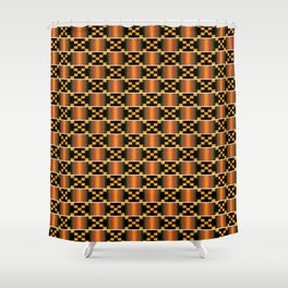 African Kente Pattern 3 Shower Curtain