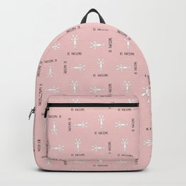 Be Awesome - Pink - Small Pattern Backpack
