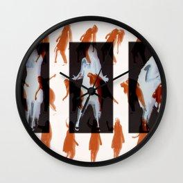 Orange dancer Wall Clock