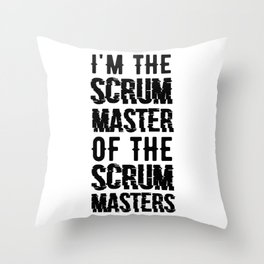 Scrum Master Agile Projectmanagement T-Shirt Throw Pillow