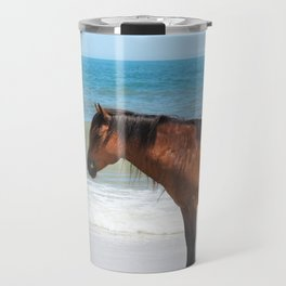 Watercolor Horse 50, Assateague Pony, Assateague, Maryland, Solitary Stand Travel Mug