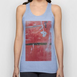 Etched Scratchings of a Mad Red Monk Unisex Tank Top