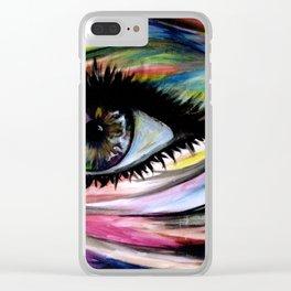 ॐ I N * L I V I N G * C O L O R ॐ Clear iPhone Case