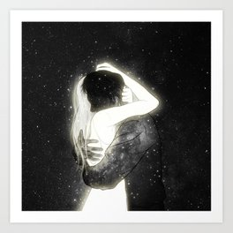 The light to my heart. Art Print