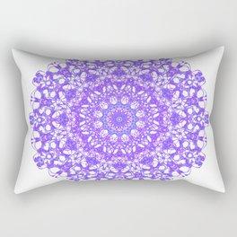 Mandala 12 / 5 eden spirit purple lilac white Rectangular Pillow