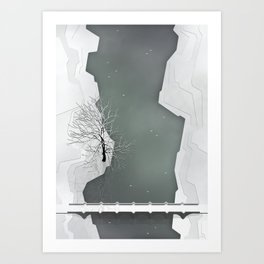 The River - Winter's coming Art Print