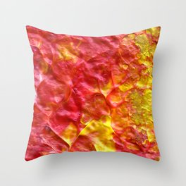 Fire Spiral Throw Pillow