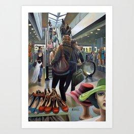 Warehouse, nonsocial vibration Art Print