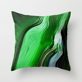 Liquid Grass Throw Pillow