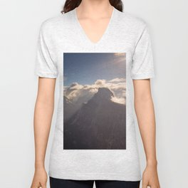Sunrays Over Half Dome Unisex V-Neck