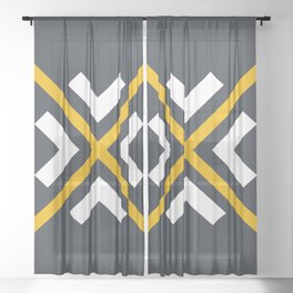 Nautical arrows Sheer Curtain