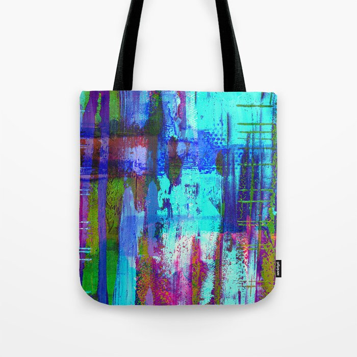 Electric Abstract - Textured, painting Tote Bag