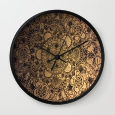 Mandala in Gold Wall Clock