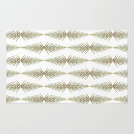 Watercolor Fern Pattern 2 Rug