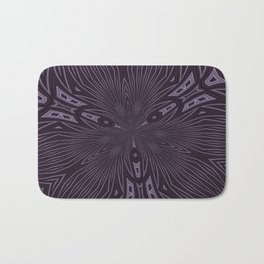 Pale Aubergine and Eggplant Abstract Pattern Kaleidescope Bath Mat