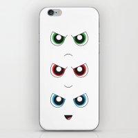 powerpuff girls iPhone & iPod Skins featuring The Powerpuff Girls by M. C.Tees
