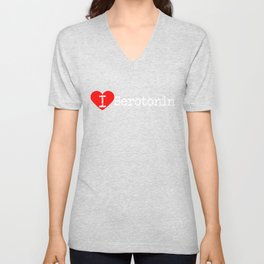 I Heart Serotonin | Love Serotonin  Unisex V-Neck
