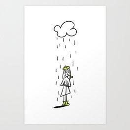 Under the Weather Idiom Art Print