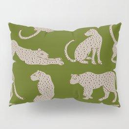 Leopard Block Party - Olive Pillow Sham