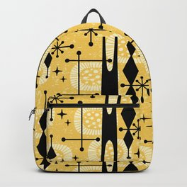 Retro Atomic Mid Century Pattern 771 Yellow Backpack