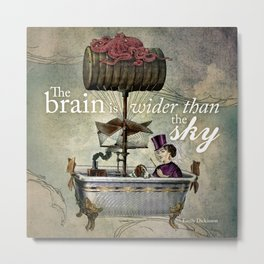 Steampunk Bathtub Airship Metal Print