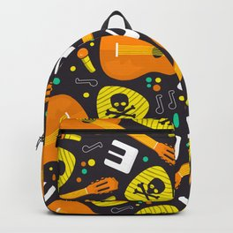 Vector Seamless Pattern Music Instruments Backpack